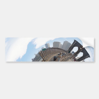 Brooklyn Bridge NYC 360 Degree Panorama Car Bumper Sticker
