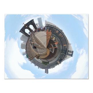 Brooklyn Bridge NYC 360 Degree Panorama 4.25x5.5 Paper Invitation Card