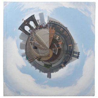Brooklyn Bridge NYC 360 Degree Panorama Napkins