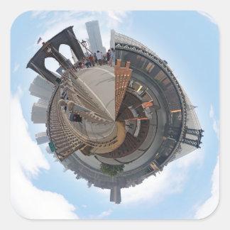 Brooklyn Bridge NYC 360 Degree Panorama Sticker