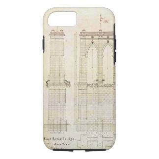 Brooklyn Bridge NYC architecture blueprint vintage iPhone 7 Case
