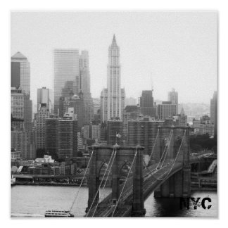 brooklyn bridge NYC Poster