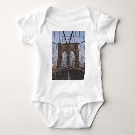 Brooklyn Bridge NYC Sun-rise on Christmas Eve Baby Bodysuit