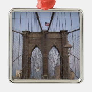Brooklyn Bridge NYC Sun-rise on Christmas Eve Metal Ornament