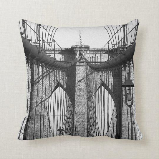 Brooklyn bridge, NYC theme toss pillow
