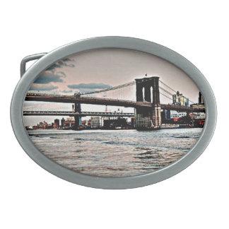 Brooklyn Bridge Oval Belt Buckles