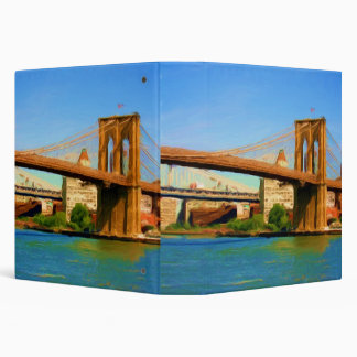 "Brooklyn Bridge Painting 1.5""  Photo Album Binder"