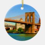 Brooklyn Bridge Painting Christmas Ornaments