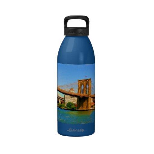Brooklyn Bridge Painting Drinking Bottle