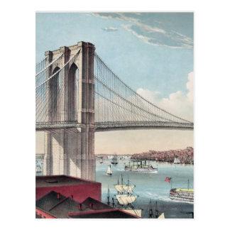 Brooklyn Bridge painting Postcard