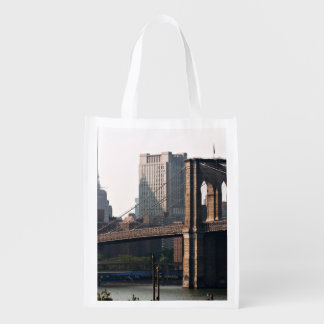 Brooklyn Bridge Panorama Grocery Bag
