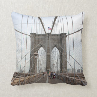 Brooklyn Bridge Perspective Throw Pillow