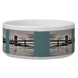 Brooklyn Bridge Pet Food Bowls