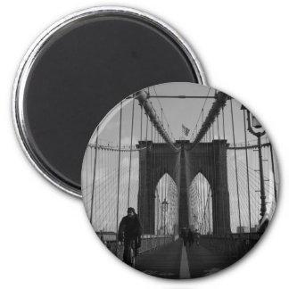 Brooklyn Bridge Photo 2 Inch Round Magnet