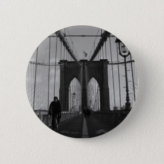 Brooklyn Bridge Photo Pinback Button