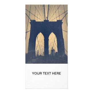 Brooklyn Bridge Personalized Photo Card