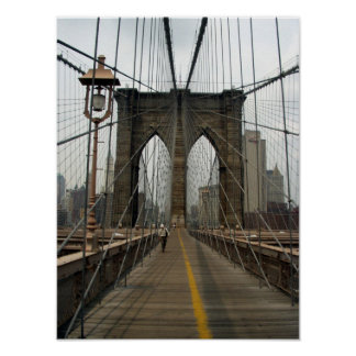 Brooklyn Bridge Photographic Image Poster