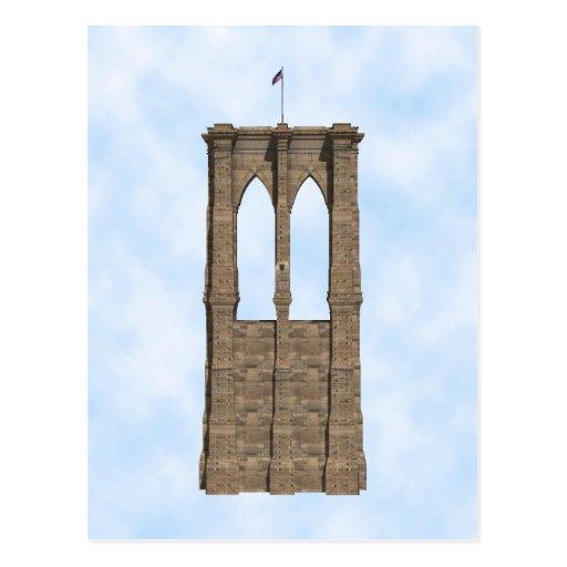 Brooklyn Bridge Pillar: 3D Model: Postcard