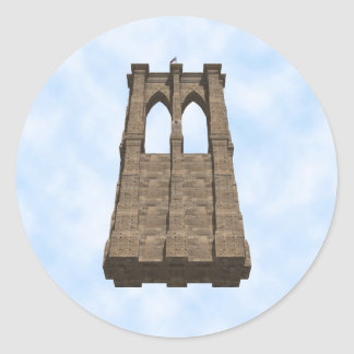 Brooklyn Bridge Pillar: 3D Model: Sticker