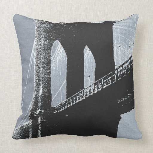 Amazon.com: brooklyn bridge pillow