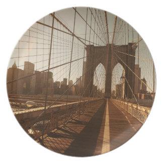 Brooklyn Bridge. Plate