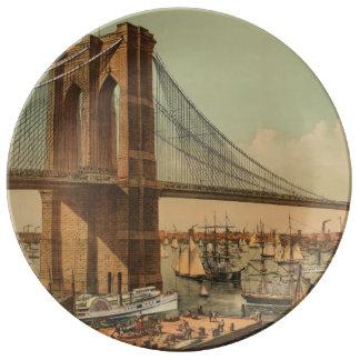 Brooklyn Bridge Porcelain Plate