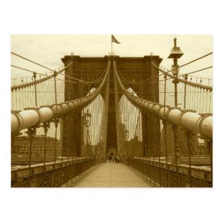 Brooklyn Bridge Postcard - New York City Postcard