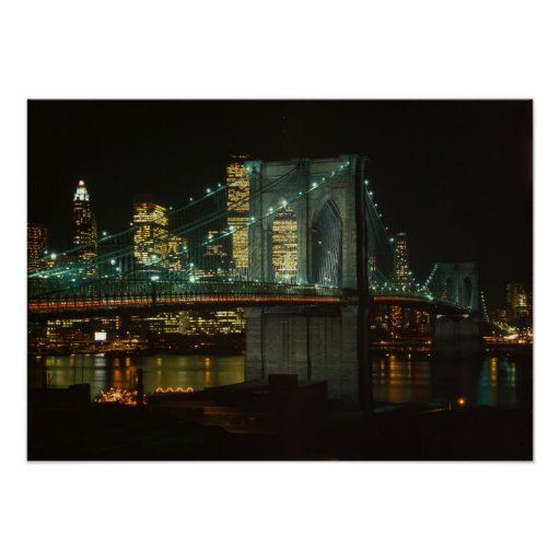 brooklyn bridge poster zazzle. Black Bedroom Furniture Sets. Home Design Ideas