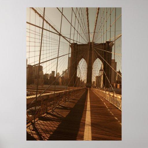 brooklyn bridge poster zazzle. Black Bedroom Furniture Sets. Home Design Ideas