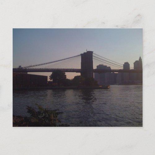 Brooklyn Bridge Pride Two postcard