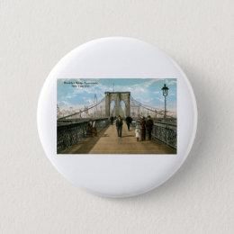 Brooklyn Bridge Promenade, New York City Button