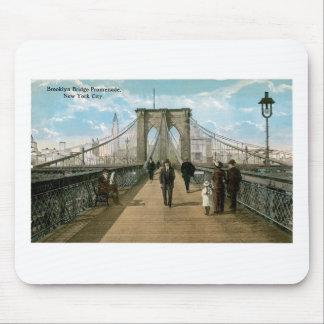 Brooklyn Bridge Promenade, New York City Mouse Pad