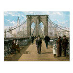Brooklyn Bridge Promenade, New York City Post Cards