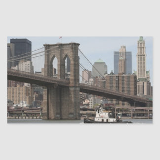Brooklyn Bridge Rectangular Sticker