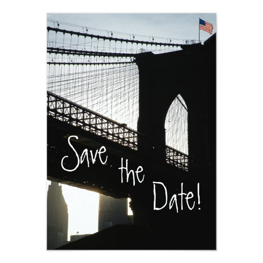 Brooklyn Bridge Save the Date Cards