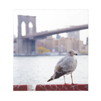 Brooklyn Bridge Seagull Notepad