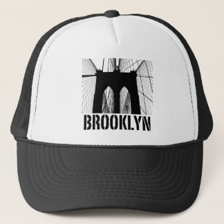 Brooklyn Bridge silhouette black Trucker Hat