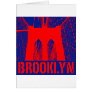 Brooklyn Bridge silhouette Card