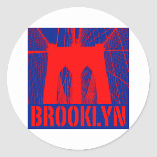Brooklyn Bridge silhouette Classic Round Sticker