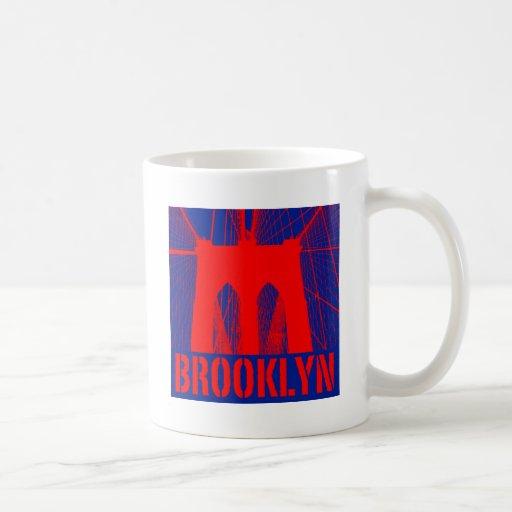 Brooklyn Bridge silhouette Classic White Coffee Mug