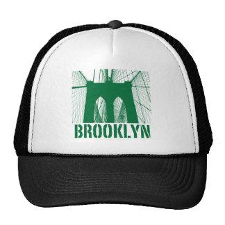 Brooklyn Bridge silhouette green Trucker Hat