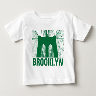 Brooklyn Bridge silhouette green Shirt