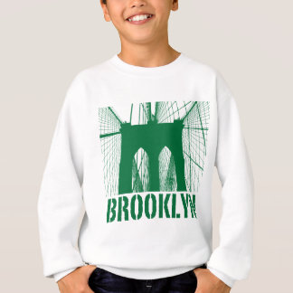 Brooklyn Bridge silhouette green Sweatshirt