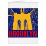 Brooklyn Bridge silhouette Greeting Card
