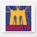 Brooklyn Bridge silhouette Mouse Pad