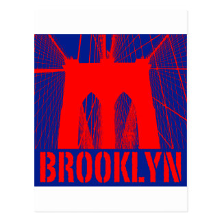 Brooklyn Bridge silhouette Postcard