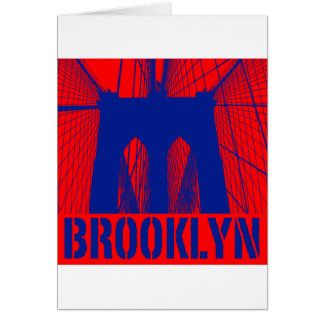 Brooklyn Bridge silhouette pride 2 Card