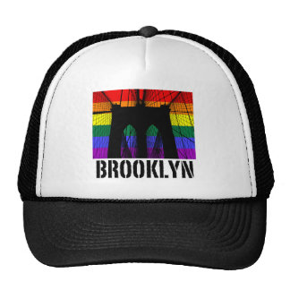 Brooklyn Bridge silhouette pride 2 Trucker Hat