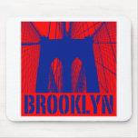 Brooklyn Bridge silhouette pride 2 Mouse Pad