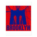 Brooklyn Bridge silhouette pride 2 Postcards